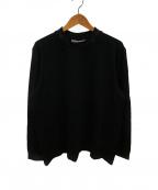 Acne studios(アクネストゥディオス)の古着「ロゴリブネックロングスリーブTシャツ」|ブラック