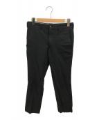 ()の古着「ポリ縮絨パンツ」|ブラック