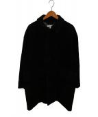()の古着「コーデュロイバルカラーコート」|ブラック