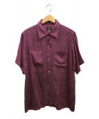 ()の古着「ジャガードパターンC.O.Bシャツ」|ピンク