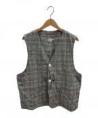 Engineered Garments(エンジニアドガーメンツ)の古着「グレンプレイドベスト」 ブルー×レッド