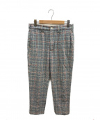 Engineered Garments(エンジニアドガーメンツ)の古着「グレンチェックパンツ」 ブルー×レッド