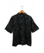 ()の古着「サークルエンボリダリーカバナシャツ」|ブラック