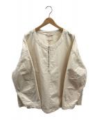 ()の古着「ワークハーフジッププルオーバーシャツ」 アイボリー