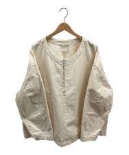 yokosakamoto (ヨウコサカモト) ワークハーフジッププルオーバーシャツ アイボリー サイズ:L  WORK HALF ZIP PULLOVER