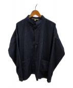 ()の古着「ヘリンボーンツイードジャケット」 ネイビー