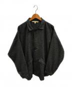 LANE FORTYFIVE(レーンフォーティーファイブ)の古着「ヘリンボーンツイードジャケット」|グレー