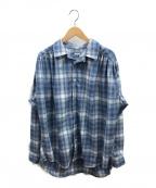 AiE(エーアイイー)の古着「ペインターシャツ」 ブルー