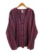 ()の古着「Vネックアーミーシャツ」|ピンク