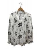 ()の古着「魔除け和ネックL/Sシャツ」 ホワイト