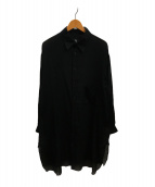 ()の古着「ロングシャツラウンドヘム」 ブラック
