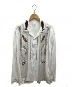 TOGA VIRILIS(トーガ ビリリース)の古着「エンブロイダリーシャツ」 ホワイト