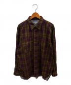Engineered Garments(エンジニアドガーメンツ)の古着「ワークシャツ」 パープル×カーキ