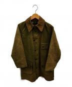 Barbour()の古着「70sソルウェイジッパーワックスジャケット」|オリーブ