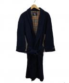 BURBERRY PRORSUM(バーバリープローサム)の古着「ガウンコート」|ネイビー