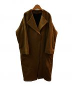 AP STUDIO(エーピーストゥディオ)の古着「オーバーサイズラムコート」 キャメル