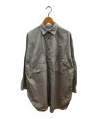 s'yte(サイト)の古着「コットンロングオーバーサイズシャツ」 グレー