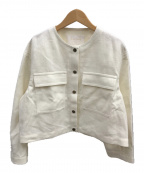 BALLSEY(ボールジィー)の古着「リネンシルク ショートコクーンブルゾン」|ホワイト