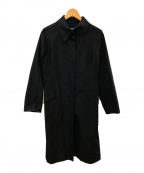FOXEY BOUTIQUE(フォクシー ブティック)の古着「シルクステンカラーコート」|ブラック
