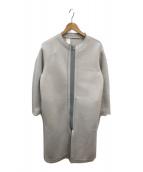 ()の古着「ボンディングカットオフノーカラーコート」 グレー