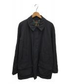 ()の古着「ナイロンステンカラーコート」 ブラック