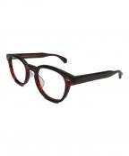 OLIVER PEOPLES(オリバーピープルズ)の古着「シェルドレイクボストンフレーム眼鏡」|レッド