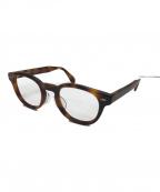 OLIVER PEOPLES(オリバーピープルズ)の古着「シェルドレイクボストンフレーム眼鏡」|ブラウン