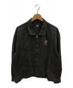 ()の古着「80'sヴィンテージクラウン刺繍デニムジップジャケット」 ブラック