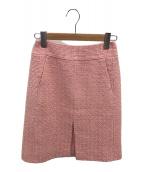 ()の古着「シルクツイードスカート」 ピンク