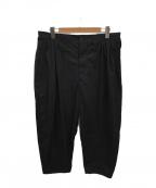 Porter Classic(ポータークラシック)の古着「ポプリンビバップパンツ」|ブラック