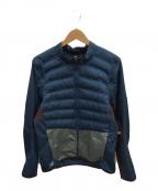 GYAKUSOU(ギャクソウ)の古着「エアロロフト ジップ オフ ジャケット」 ブルー×ブラウン