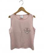 CHANEL(シャネル)の古着「マイアミ ザ ローリーホテルカシミヤノースリーブニット」|ピンク