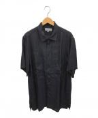 YohjiYamamoto pour homme(ヨウジヤマモトプールオム)の古着「ブロードパッチワークS/Sシャツ」|ブラック