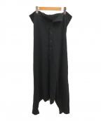 Y's(ワイズ)の古着「吊り天竺サルエルパンツ」|ブラック
