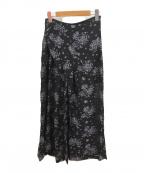 Mame Kurogouchi(マメ クロゴウチ)の古着「ペディカルジャガードフレアパンツ」|ネイビー