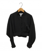 Mame Kurogouchi(マメ クロゴウチ)の古着「ドロップショルダージャケット」|ブラック