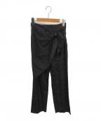 Mame Kurogouchi(マメ クロゴウチ)の古着「フローラルジャガードパンツ」|ブラック