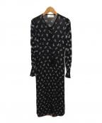 Mame Kurogouchi(マメ クロゴウチ)の古着「フラワー刺繍ドレスワンピース」|ブラック