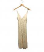 Mame Kurogouchi(マメ クロゴウチ)の古着「ワイルドフラワージャガードキャミソールドレスワンピース」|アイボリー