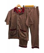 ()の古着「サテンパジャマセット」 レッド