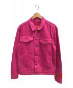 ()の古着「トラッカージャケット」 ピンク
