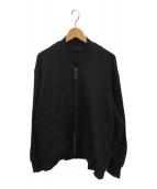 ()の古着「ウールジャガードブルゾン」 ブラック