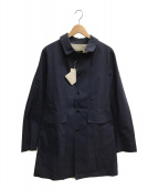 ()の古着「ゴム引きステンカラーコート」 ネイビー
