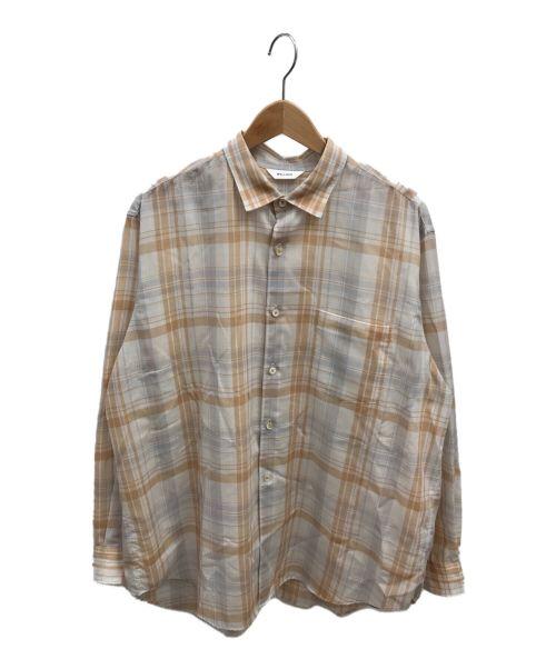 WELLDER(ウェルダー)WELLDER (ウェルダー) スタンダードシャツ ブラウン サイズ:4の古着・服飾アイテム