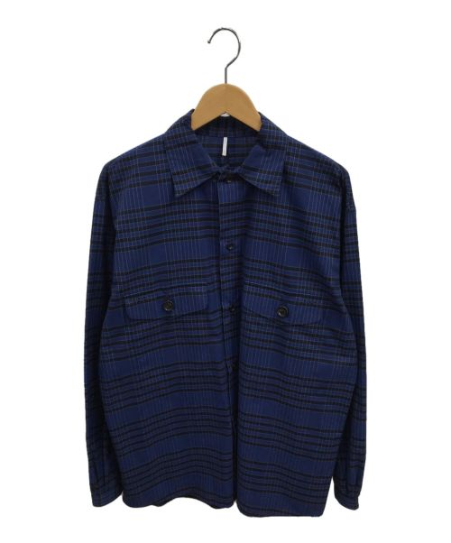 ETHOS(エトス)ETHOS (エトス) チェックシャツ ブルー サイズ:Mの古着・服飾アイテム