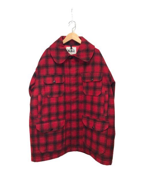 WOOLRICH(ウールリッチ)WOOLRICH (ウールリッチ) シャツジャケット レッド サイズ:44の古着・服飾アイテム