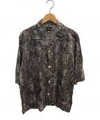 Needles(ニードルズ)の古着「パイソンプリントカバナシャツ」 ブラック
