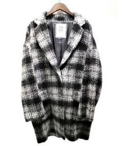 IENA SLOBE(イエナスローブ)の古着「シャギーチェックコクーンコート」|グレー×ブラック