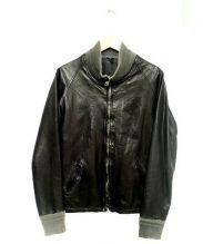 GIORGIO BRATO(ジョルジオ ブラット)の古着「レザーシングルライダースジャケット」 ブラック