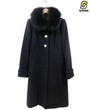 Apuweiser-riche(アプワイザーリッシェ)の古着「ファー付コート」|ブラック
